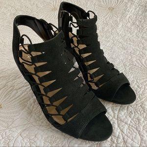 Vince Camuto Eliaz Dress Sandal Black Suede 8.5